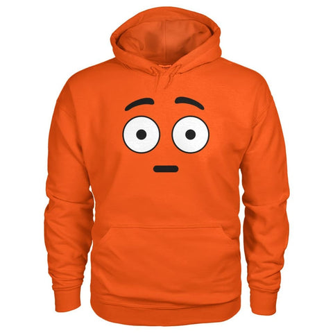 Image of Shocked Face Hoodie - Orange / S - Hoodies