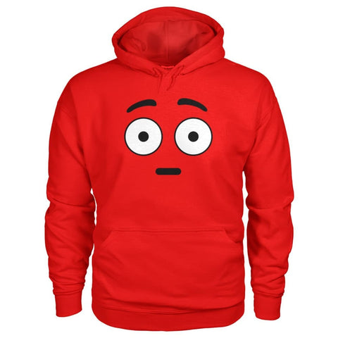 Image of Shocked Face Hoodie - Red / S - Hoodies