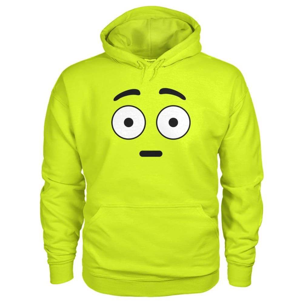 Shocked Face Hoodie - Safety Green / S - Hoodies