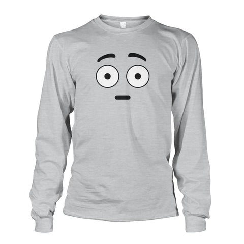 Shocked Face Long Sleeve - Ash Grey / S - Long Sleeves