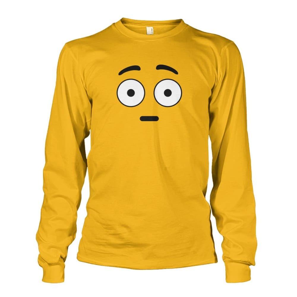 Shocked Face Long Sleeve - Gold / S - Long Sleeves