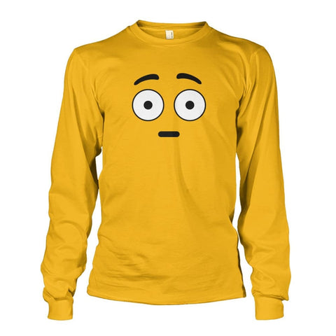 Image of Shocked Face Long Sleeve - Gold / S - Long Sleeves