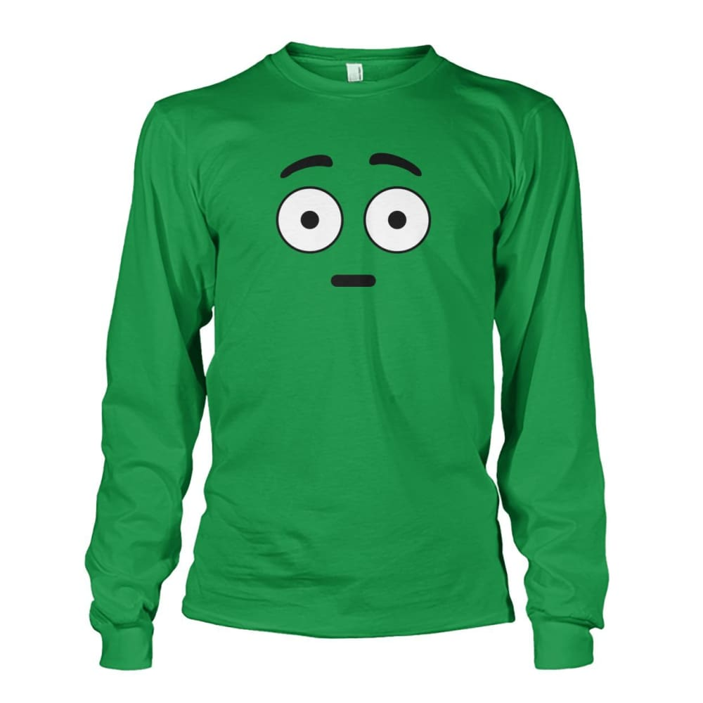 Shocked Face Long Sleeve - Irish Green / S - Long Sleeves