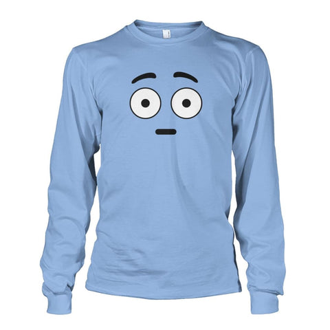 Shocked Face Long Sleeve - Light Blue / S - Long Sleeves