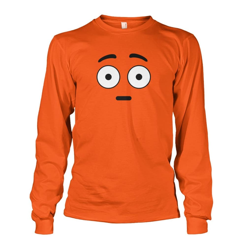 Shocked Face Long Sleeve - Orange / S - Long Sleeves