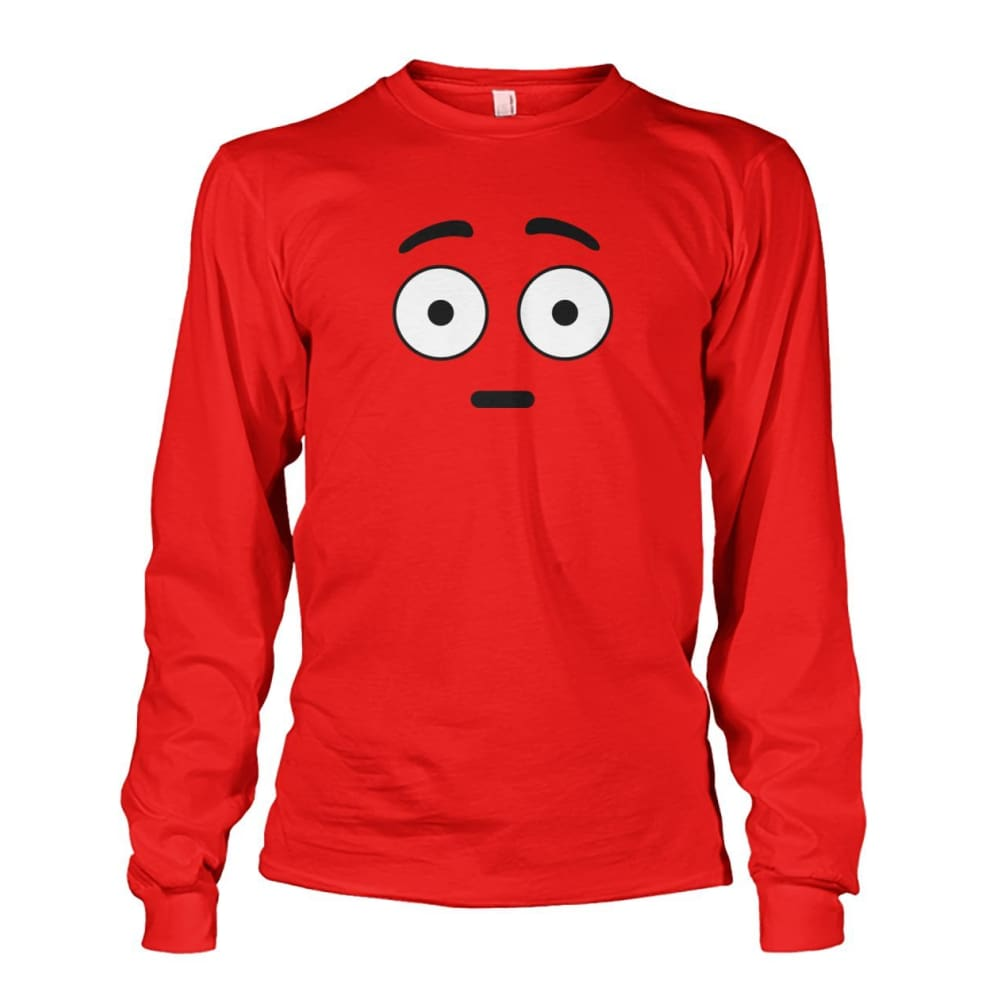 Shocked Face Long Sleeve - Red / S - Long Sleeves