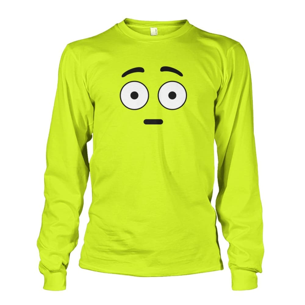 Shocked Face Long Sleeve - Safety Green / S - Long Sleeves