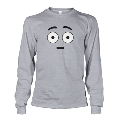 Shocked Face Long Sleeve - Sports Grey / S - Long Sleeves