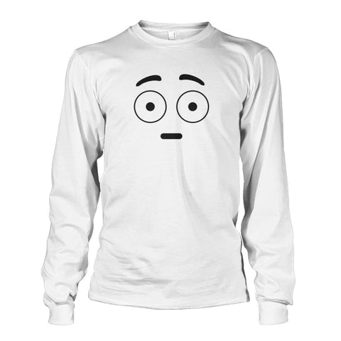 Image of Shocked Face Long Sleeve - White / S - Long Sleeves
