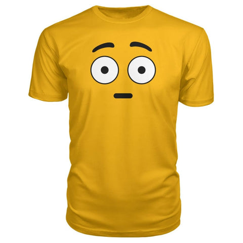 Image of Shocked Face Premium Tee - Gold / S - Short Sleeves