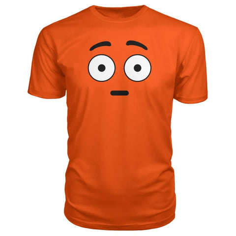 Image of Shocked Face Premium Tee - Orange / S - Short Sleeves