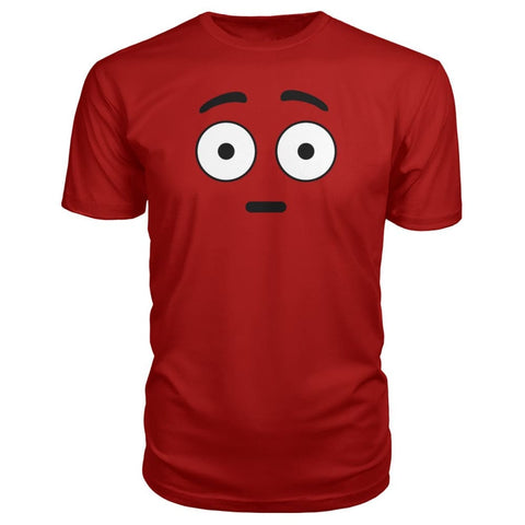 Image of Shocked Face Premium Tee - Red / S - Short Sleeves