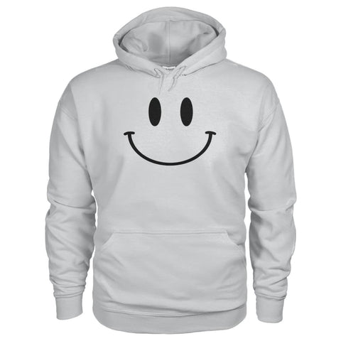 Smiley Face Hoodie - Ash Grey / S - Hoodies