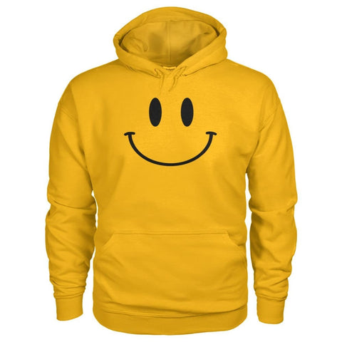 Smiley Face Hoodie - Gold / S - Hoodies