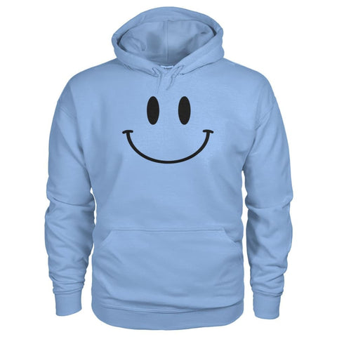Smiley Face Hoodie - Light Blue / S - Hoodies