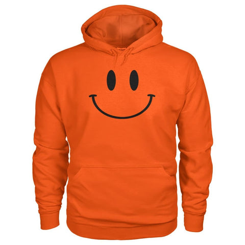 Smiley Face Hoodie - Orange / S - Hoodies