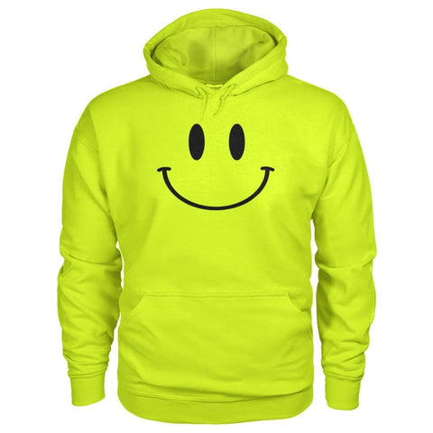 Image of Smiley Face Hoodie - Safety Green / S - Hoodies
