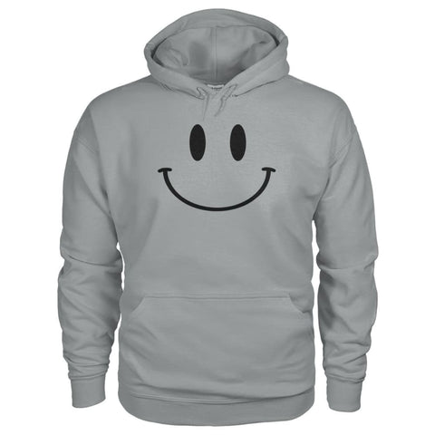 Smiley Face Hoodie - Sport Grey / S - Hoodies