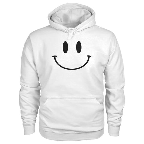 Smiley Face Hoodie - White / S - Hoodies