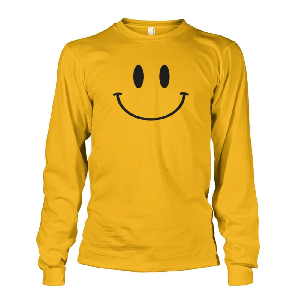 Smiley Face Long Sleeve - Gold / S - Long Sleeves