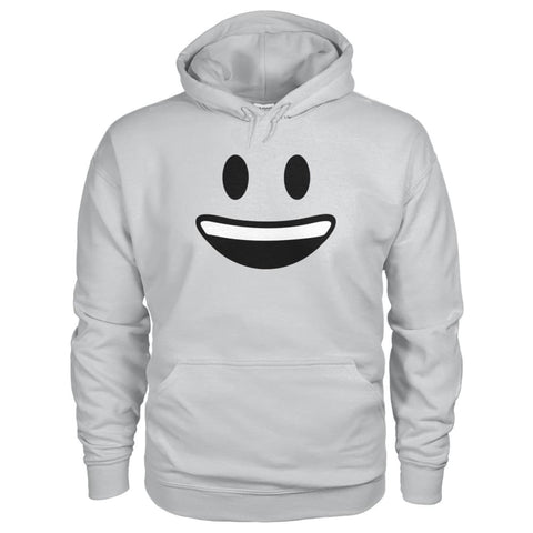 Smiley Face With teeth Hoodie - Ash Grey / S - Hoodies