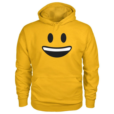 Smiley Face With teeth Hoodie - Gold / S - Hoodies