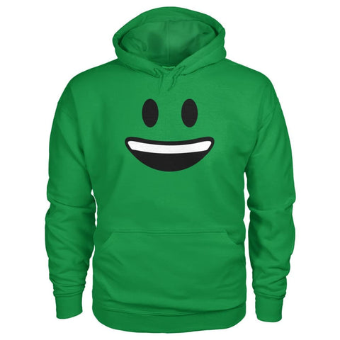 Smiley Face With teeth Hoodie - Irish Green / S - Hoodies