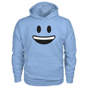 Smiley Face With teeth Hoodie - Light Blue / S - Hoodies