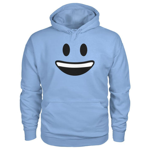 Image of Smiley Face With teeth Hoodie - Light Blue / S - Hoodies
