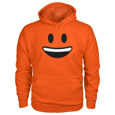 Smiley Face With teeth Hoodie - Orange / S - Hoodies