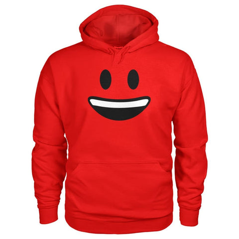 Smiley Face With teeth Hoodie - Red / S - Hoodies