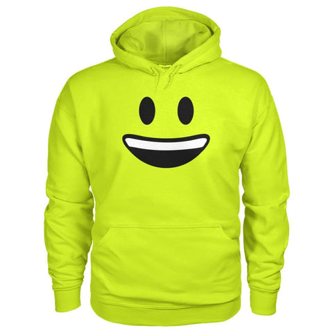 Smiley Face With teeth Hoodie - Safety Green / S - Hoodies