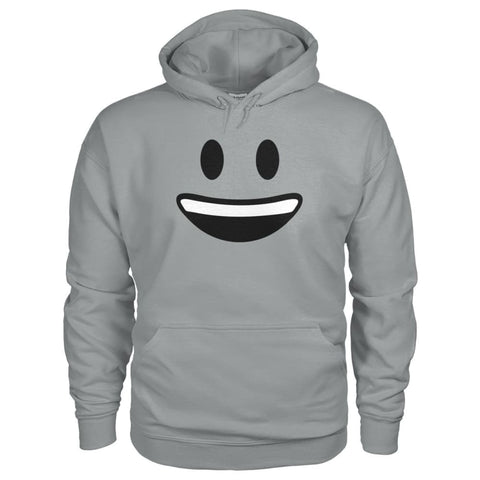 Smiley Face With teeth Hoodie - Sport Grey / S - Hoodies