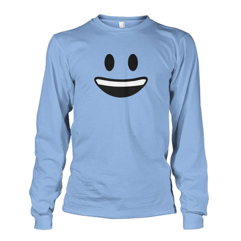 Smiley Face With teeth Long Sleeve - Light Blue / S - Long Sleeves