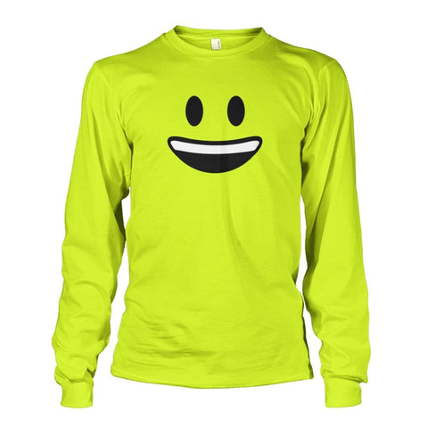Smiley Face With teeth Long Sleeve - Safety Green / S - Long Sleeves