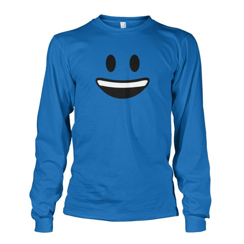 Smiley Face With teeth Long Sleeve - Sapphire / S - Long Sleeves