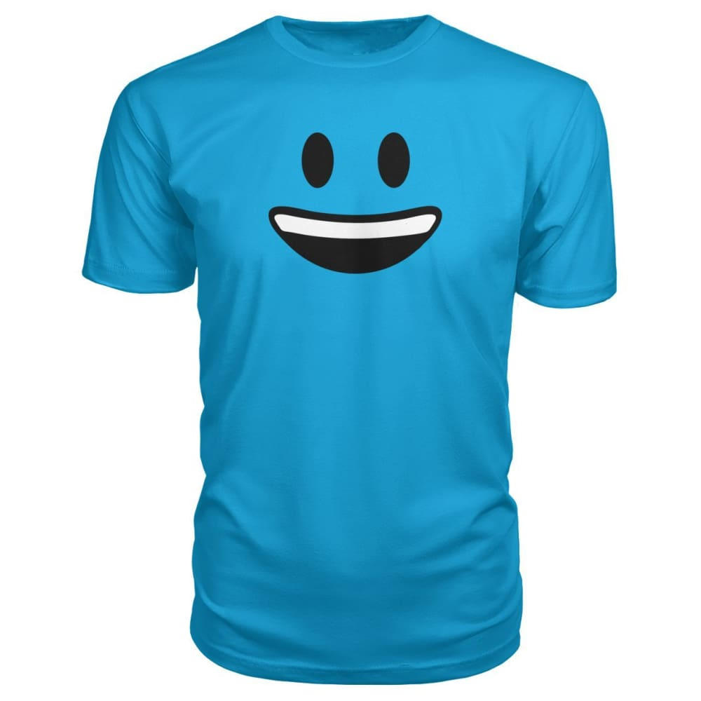 Smiley Face With teeth Premium Tee - Carribean Blue / S - Short Sleeves