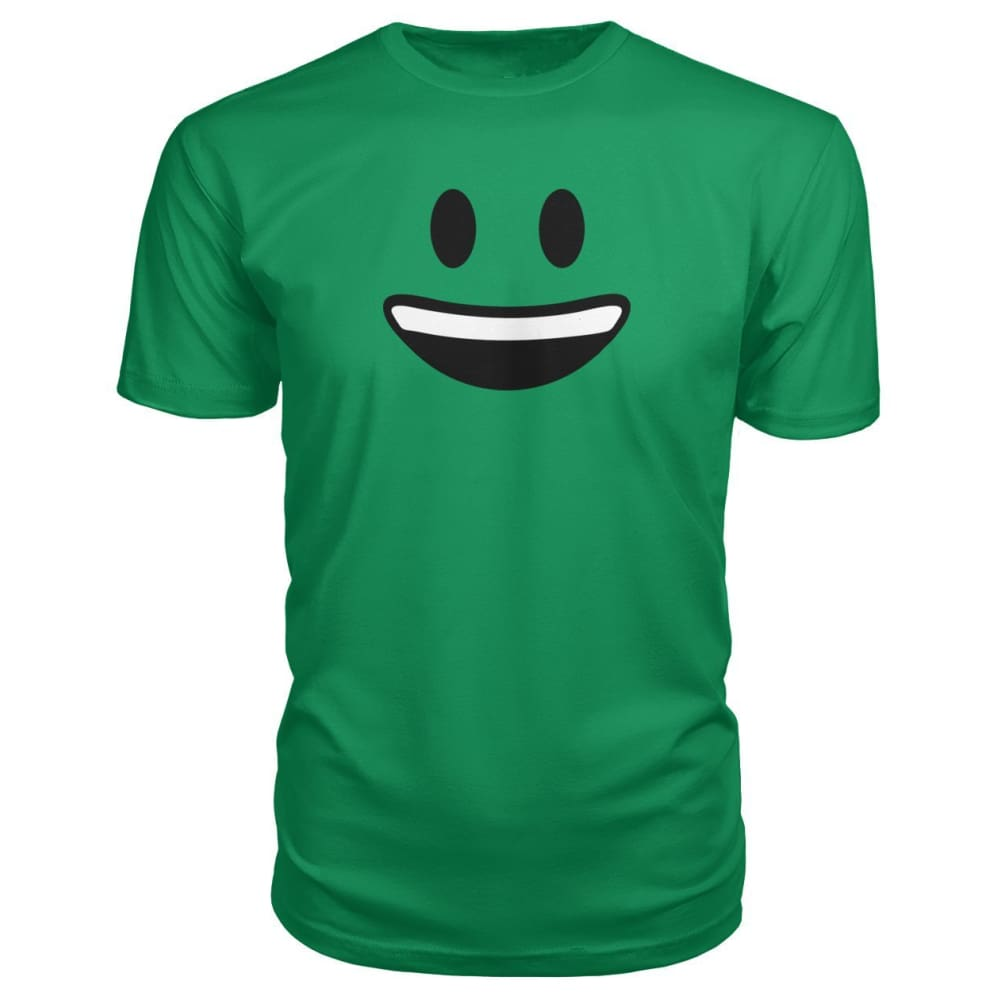 Smiley Face With teeth Premium Tee - Green Apple / S - Short Sleeves