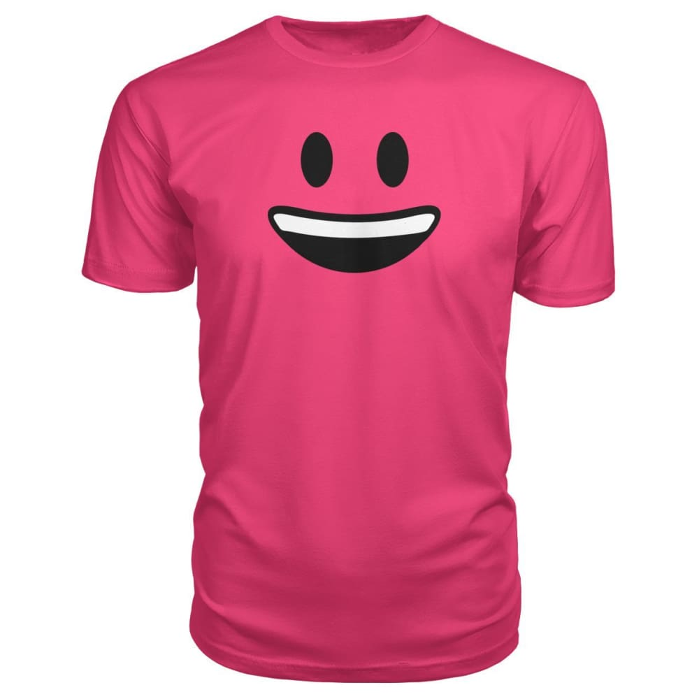Smiley Face With teeth Premium Tee - Hot Pink / S - Short Sleeves