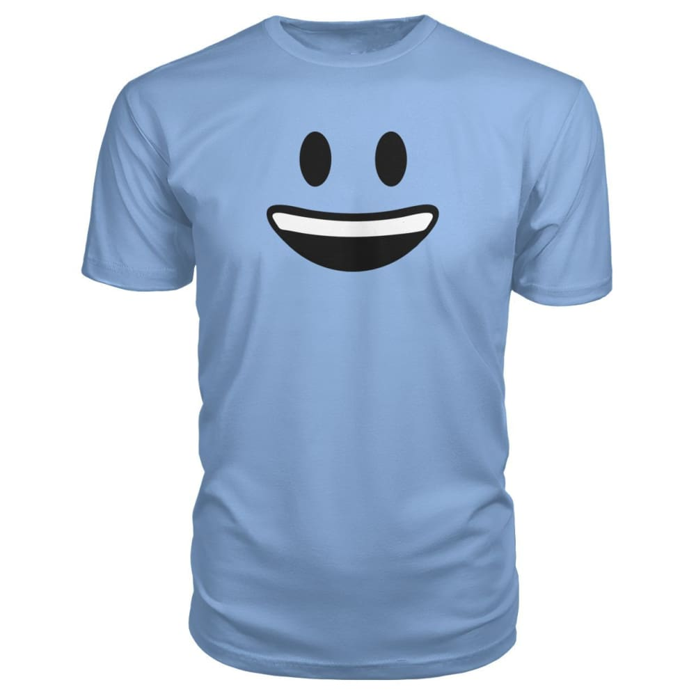 Smiley Face With teeth Premium Tee - Light Blue / S - Short Sleeves