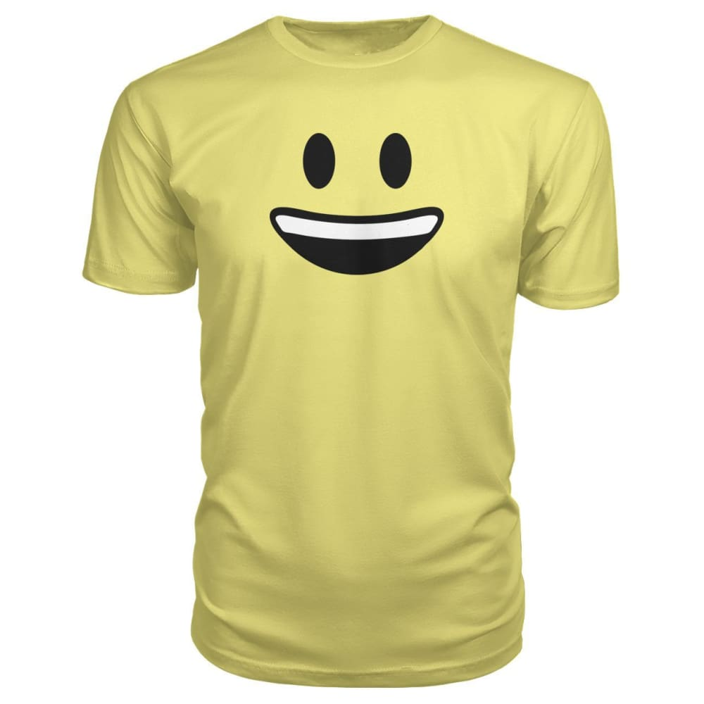 Smiley Face With teeth Premium Tee - Spring Yellow / S - Short Sleeves