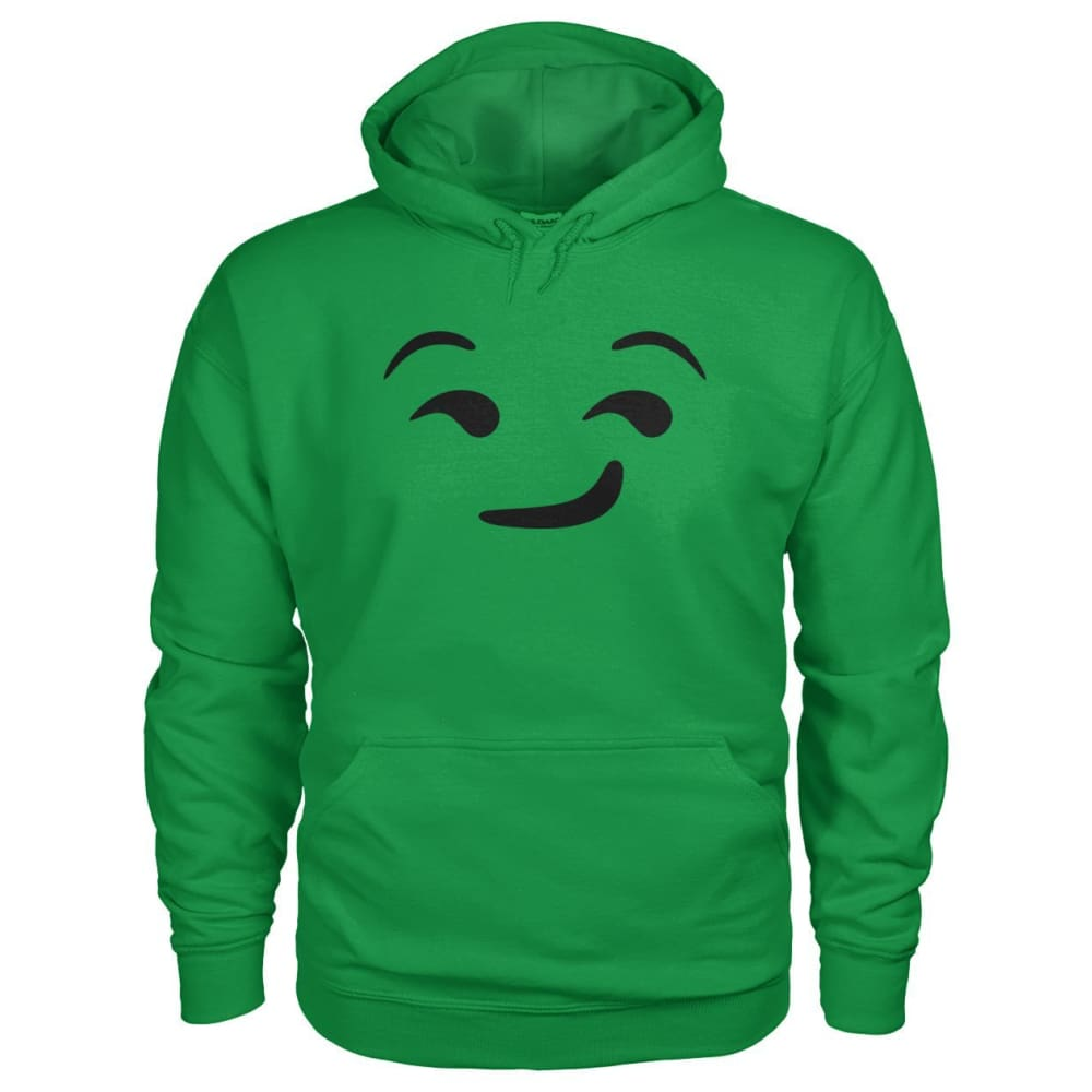 Smirking Face Hoodie - Irish Green / S - Hoodies