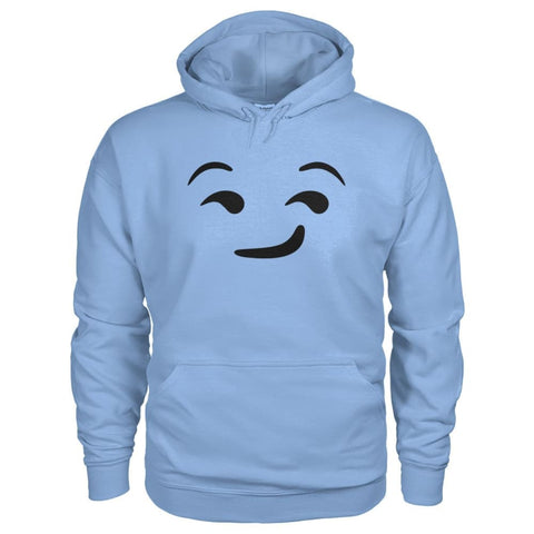 Image of Smirking Face Hoodie - Light Blue / S - Hoodies