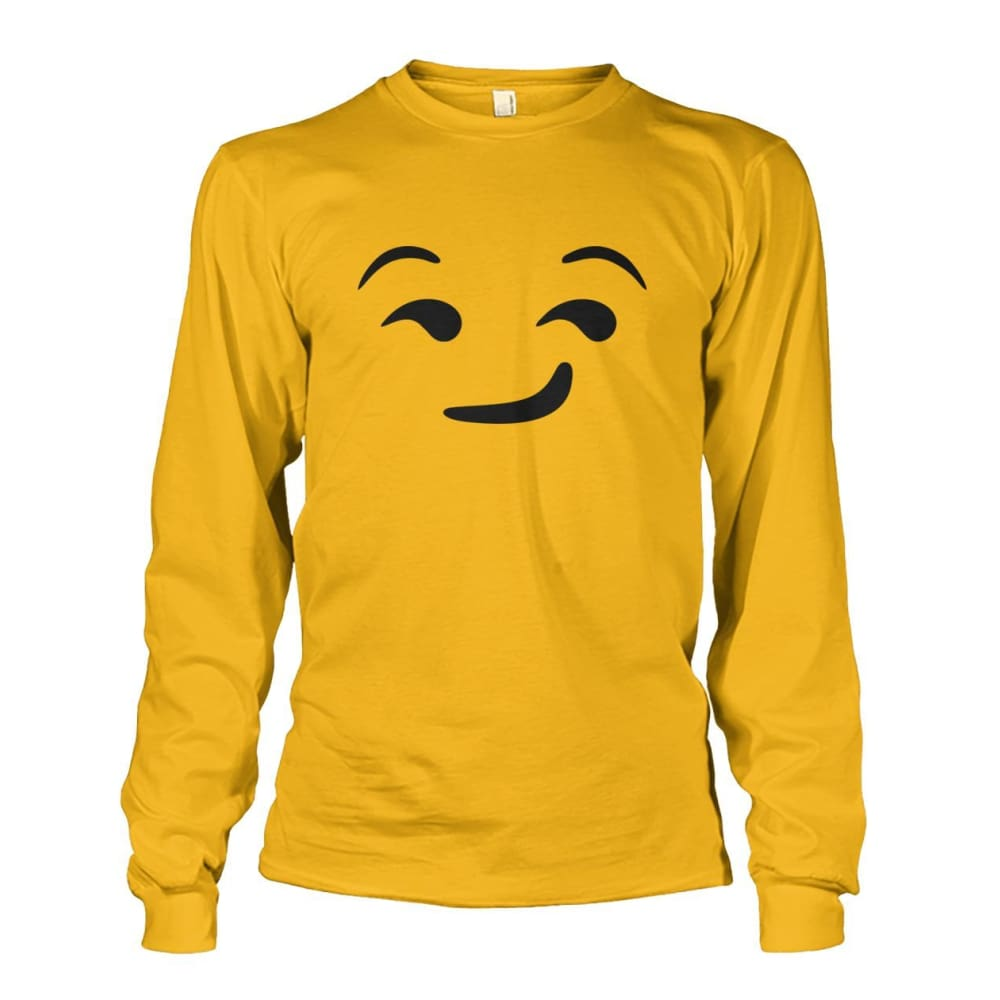 Smirking Face Long Sleeve - Gold / S - Long Sleeves