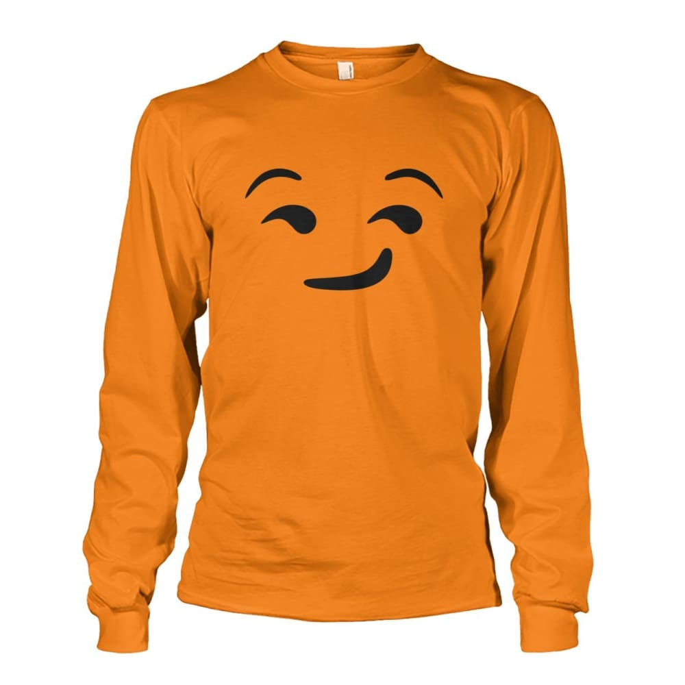 Smirking Face Long Sleeve - Safety Orange / S - Long Sleeves