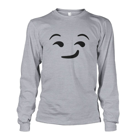 Image of Smirking Face Long Sleeve - Sports Grey / S - Long Sleeves