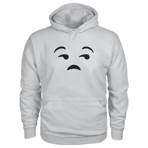 Image of Unamused Face Hoodie - Ash Grey / S - Hoodies