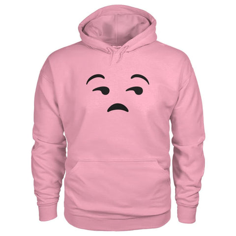Image of Unamused Face Hoodie - Classic Pink / S - Hoodies