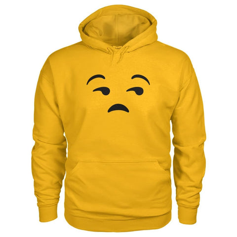 Image of Unamused Face Hoodie - Gold / S - Hoodies