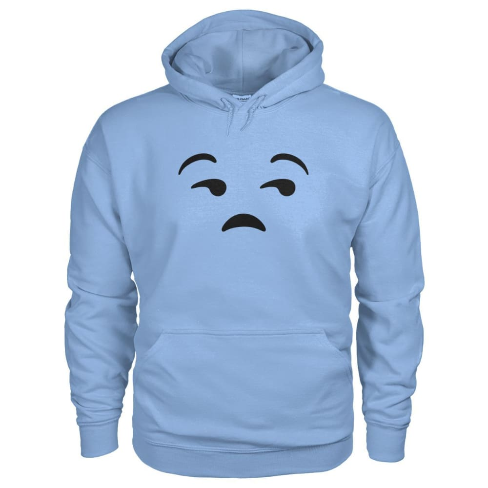 Unamused Face Hoodie - Light Blue / S - Hoodies